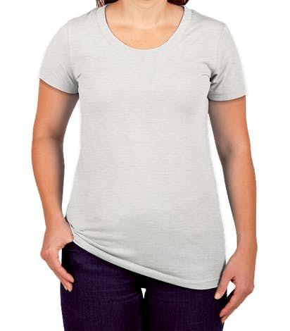 Canada - Bella + Canvas Women's Slim Fit Tri-Blend T-shirt - White Fleck Tri-Blend