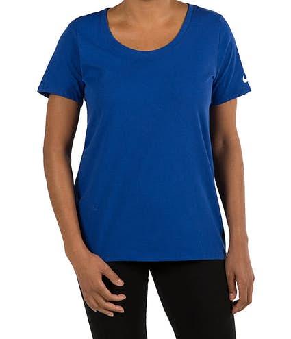 9515a1bee Custom Nike Dri-Fit Women's Performance Blend Shirt - Design ...