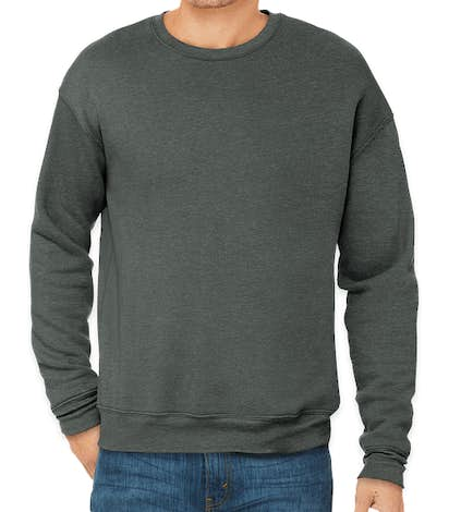 Bella + Canvas Ultra Soft Drop Shoulder Crewneck Sweatshirt - Deep Heather