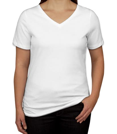 Canada - Bella + Canvas Women's V-Neck T-shirt - White