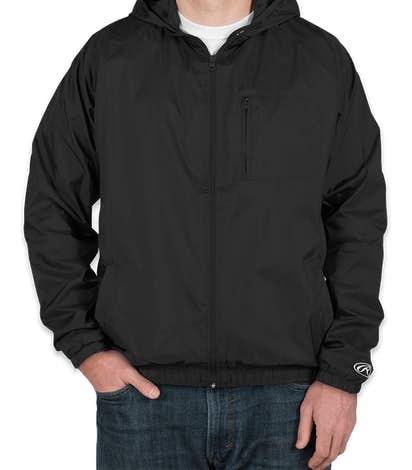 Rawlings Lined Full Zip Hooded Jacket - Black