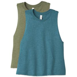 Bella + Canvas Women's Racerback Crop Tank Top