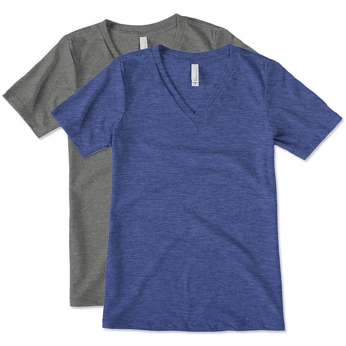 ff255f4f34 Custom Bella + Canvas Women's Tri-Blend V-Neck T-shirt - Design ...