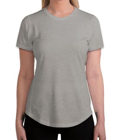 Adidas Women's Heather 100% Recycled UPF Performance Shirt - Grey Three Heather