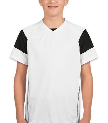 High Five Youth Mundo Performance Soccer Jersey - White / Black / White