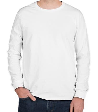 Anvil Long Sleeve Jersey T-shirt - White