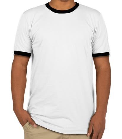 Bella + Canvas Ringer T-shirt - White / Black