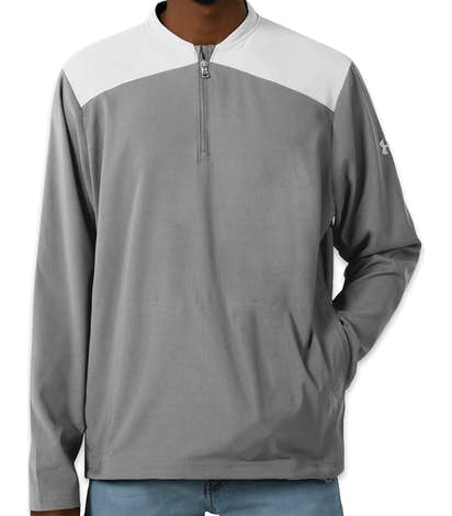 Under Armour Corporate Tech Quarter Zip Pullover - Steel / White