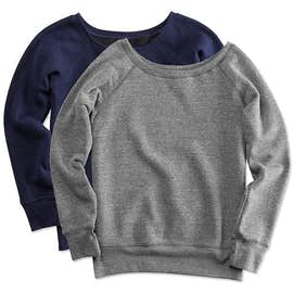 Bella + Canvas Juniors Tri-Blend Wideneck Sweatshirt