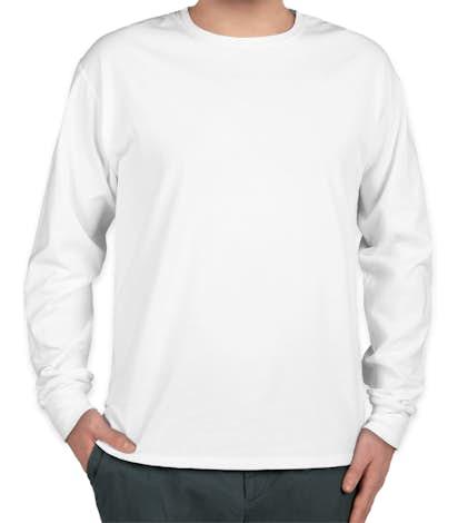 Hanes ComfortWash 100% Cotton Long Sleeve T-shirt - White