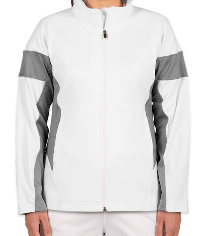 Team 365 Women's Performance Warm-Up Jacket - White / Sport Graphite
