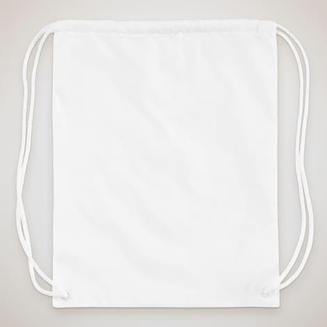 Full Color Drawstring Bag - White