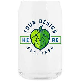 Full Color 16 oz. Soda Can Glass