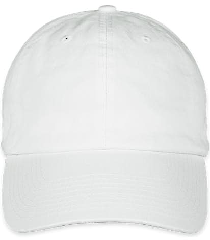Bayside USA-Made Cotton Twill Hat - White