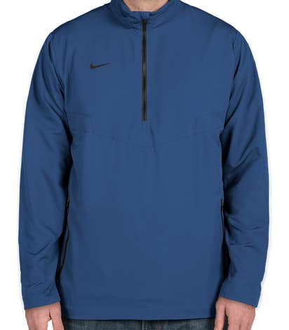 Nike Half Zip Windbreaker - Gym Blue / Black
