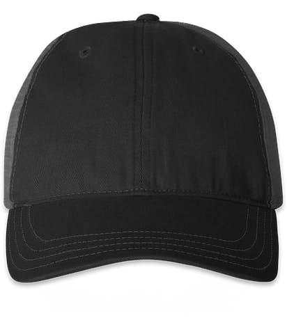 Richardson Garment Washed Trucker Hat - Black / Charcoal