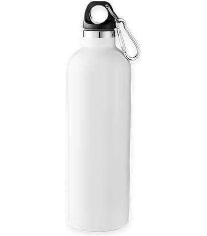 18 oz. Vacuum Insulated Water Bottle with Carabiner - White