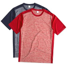 Sport-Tek Electric Heather Colorblock Performance Shirt