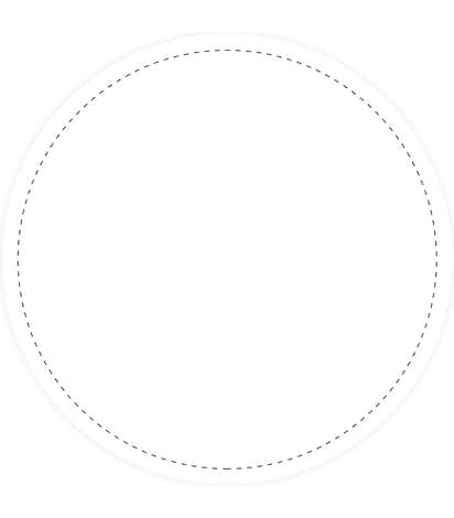 Full Color 4 in. Circle Magnet - White