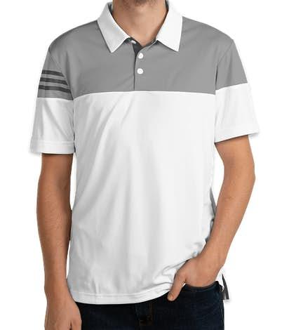 Adidas 3-Stripes Performance Polo - White / Vista Grey