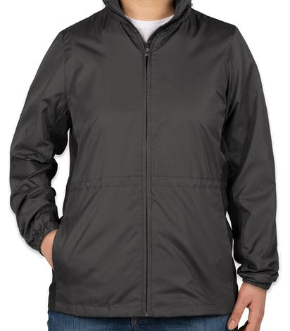 Port Authority Women's Core Colorblock Full Zip Jacket - Battleship Grey / Black