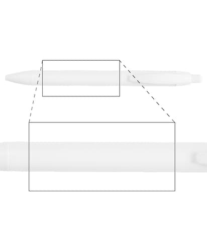 BIC WideBody Retractable Pen (black ink) - White / White