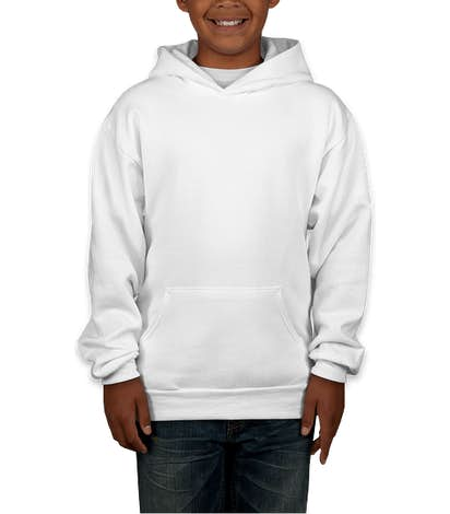 Hanes Youth EcoSmart® 50/50 Pullover Hoodie - White