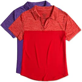 Augusta Women's Tonal Heather Performance Polo