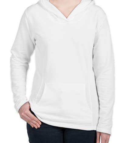 Anvil Women's French Terry Pullover Hoodie - White