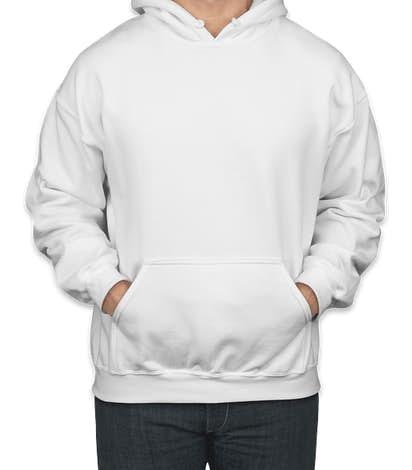 Gildan Midweight 50/50 Pullover Hoodie - White
