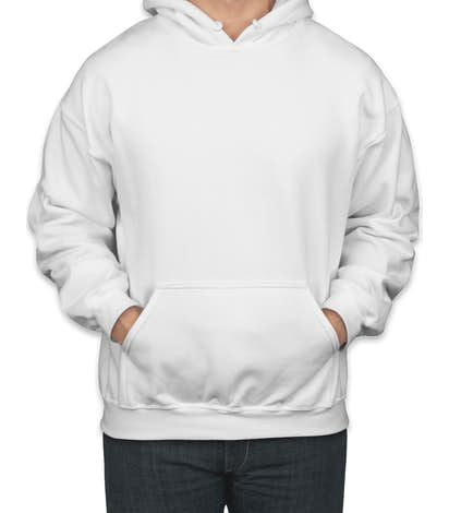 Canada - Gildan Midweight 50/50 Pullover Hoodie - White