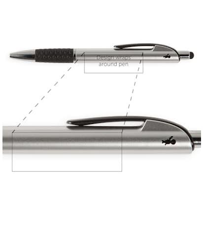 BIC Image Stylus Pen (black ink) - Silver