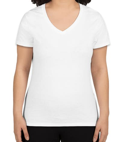 Hanes Women's X-Temp V-Neck T-shirt - White