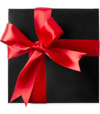 Assorted Mini Pretzels Gift Box - Black / Red Bow