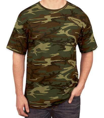 Code Five Camo T-shirt - Green Woodland
