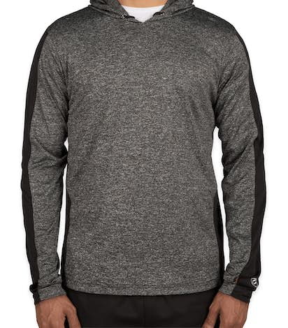 Rawlings Heather Colorblock Performance Hooded Shirt - Heather Charcoal