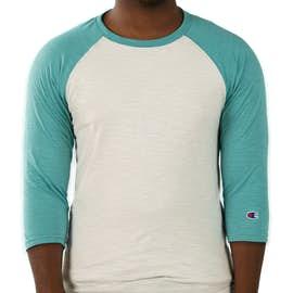 Champion Premium Fashion Baseball Raglan - Color: Chalk White / Bright Sage