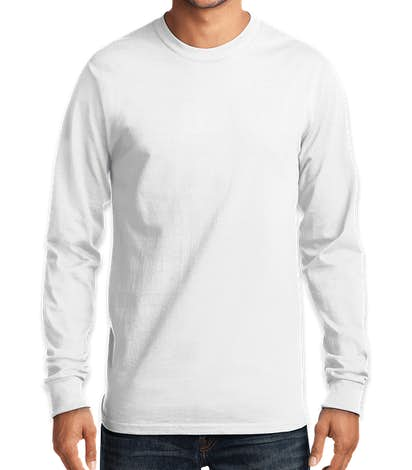 Port & Company Essential Long Sleeve T-shirt - White