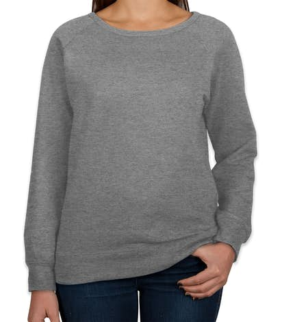 Independent Trading Juniors Lightweight Crewneck Sweatshirt - Gunmetal Heather