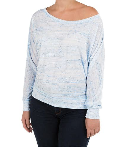 3b545a78f4af8f Bella + Canvas Women s Flowy Long Sleeve Off Shoulder T-shirt - Other View