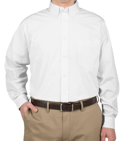 Ultra Club Easy Care Broadcloth Dress Shirt - White
