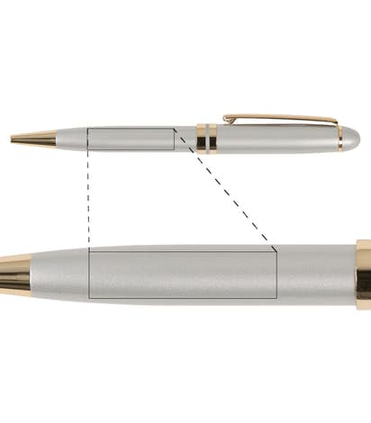 BIC Esteem Pen - Silver / Gold