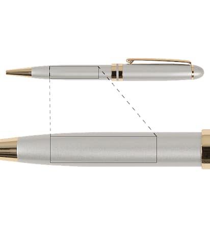 BIC Esteem Pen - Silver / Gold