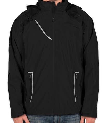 Team 365 Waterproof Hooded Jacket - Black / Black