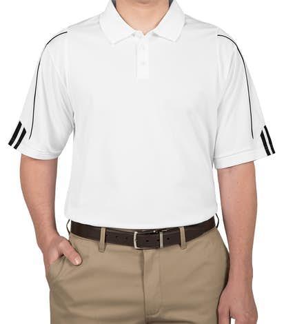 Adidas ClimaLite Three Stripe Performance Polo - White / Black