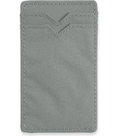 Dual Pocket RFID Phone Wallet - Silver