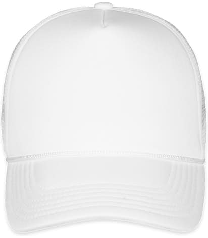 Valucap Foam/Mesh Trucker Hat - White / White