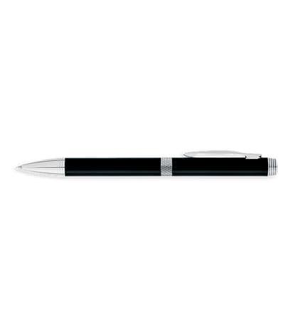 Laser Engraved Colonnade Ballpoint Pen (black ink) - Black