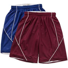 Sport-Tek Youth Micro-Mesh Reversible Contrast Shorts