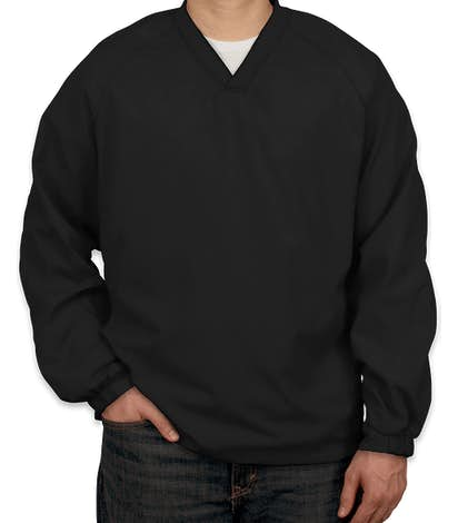 Sport-Tek V-Neck Windshirt - Black